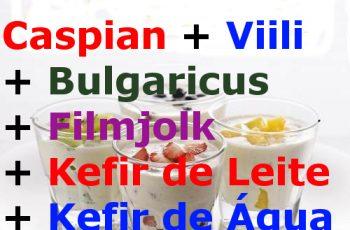 6 Probióticos – Caspian, Viili, Bulgaricus, Filmjolk, Kefir de Leite, Kefir de Água. Compre Aqui Só R$79,90 os 6 Juntos com Frete Grátis para Todo Brasil.